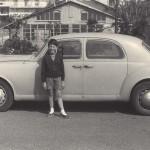 1956 - Paolo Rampini con l'auto del padre