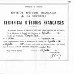 1971 - Diploma in Lingua Francese di Paolo Rampini