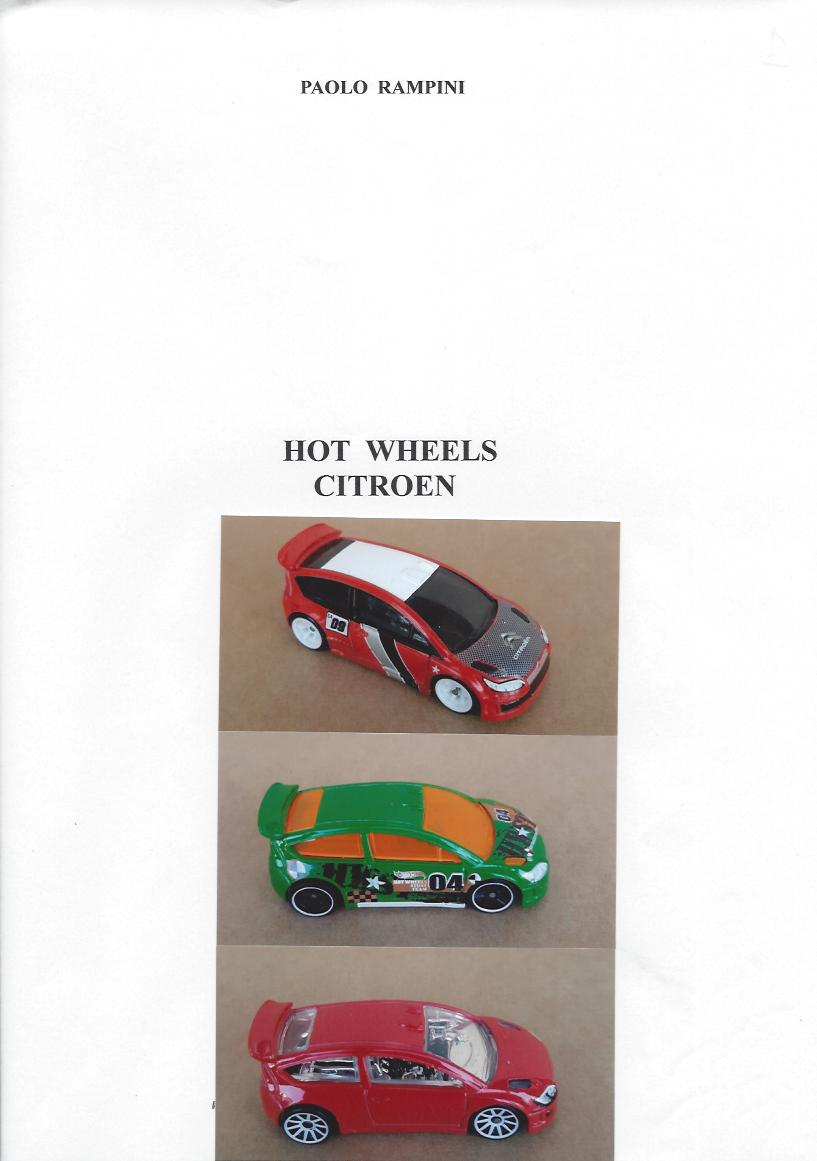 HOT WHEELS CITROEN, Paolo Rampini, 2018
