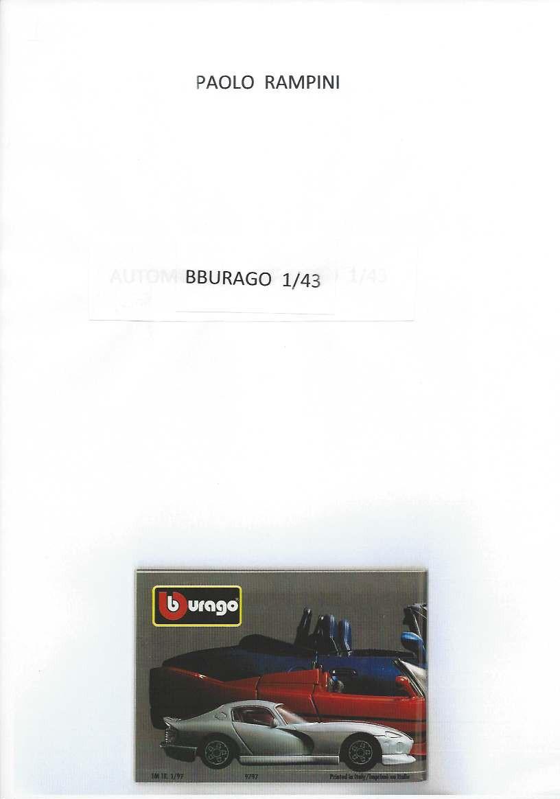 Bburago 1:43, Paolo Rampini, 2015