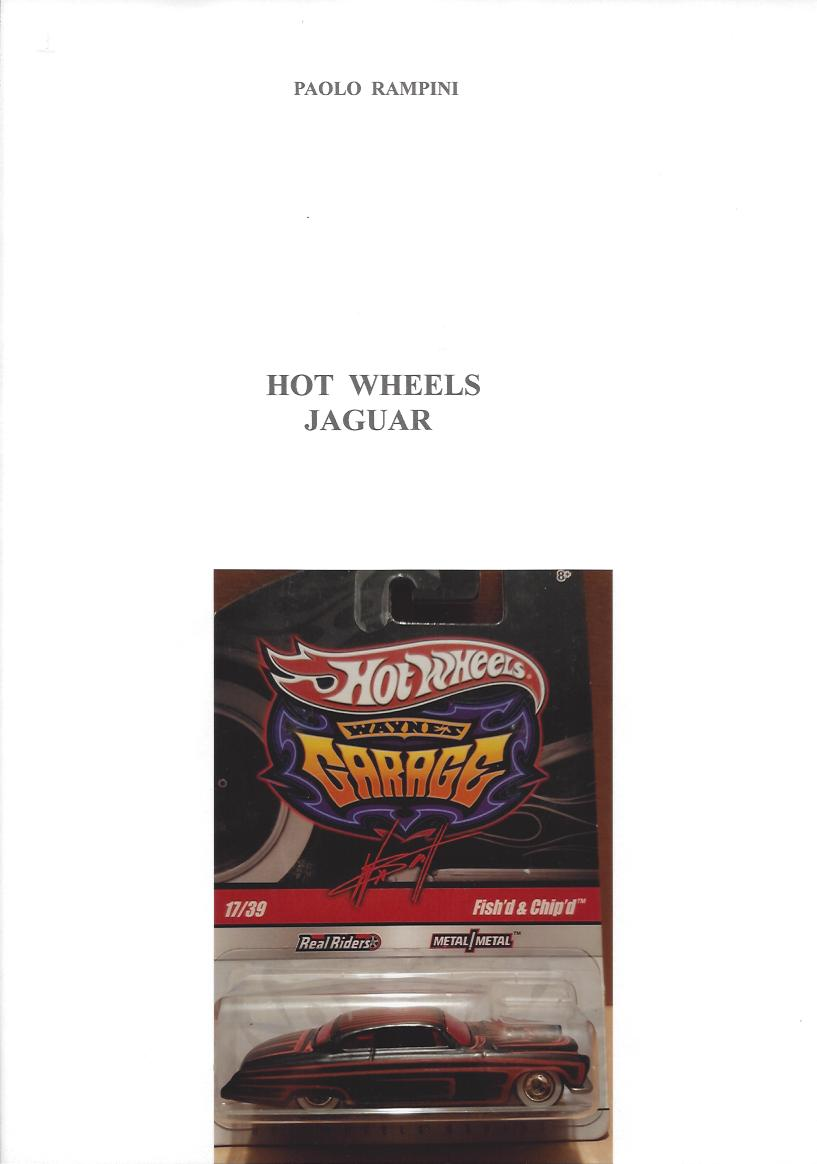 HOT WHEELS JAGUAR, Paolo Rampini, 2018